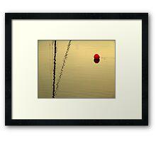 red buoy in sunset Framed Print