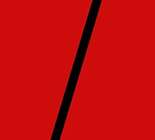 Diagonal line. Minimal design. <Red> by 2monthsoff