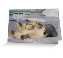 Polar Bear Cubs II Greeting Card