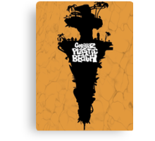 Plastic Beach Canvas Print