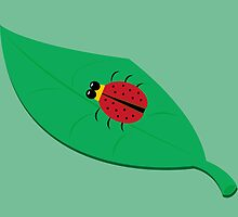 Ladybug on a Leaf by ronibgood