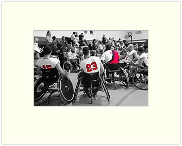 Wheelchair Basketball Team by AngelPhotozzz