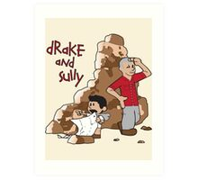 Drake and Sully Art Print