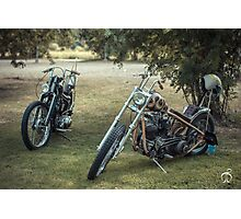 Choppers under mountain ashes Photographic Print