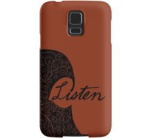 Listen/Music Lover Samsung Galaxy Case/Skin