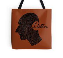 Listen/Music Lover Tote Bag