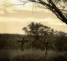 Three Crosses by Lorraine Creagh