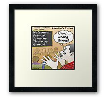 Primal Scream For Mimes  Framed Print