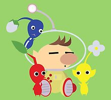 Olimar and Pikmin Vector by ViralDrone