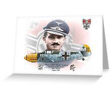 """Adolf """"Dolfo"""" Galland Greeting Card"""
