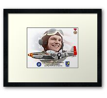 """Capt. Clarence E. """"Bud"""" Anderson Framed Print"""