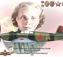 Lydia Vladimirovna Litvyak by A. Hermann