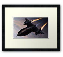 Lockheed SR 71 Blackbird Framed Print