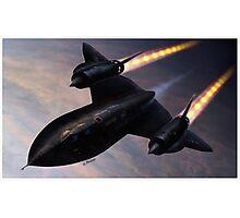 Lockheed SR 71 Blackbird Photographic Print