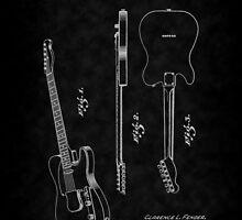 Fender 1951 Electric Guitar Patent Art-bk by Barry  Jones