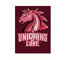 Unicorns of Love (Best quality ever) Art Print