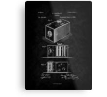 Eastman's 1888 Camera Patent Art_BK Metal Print