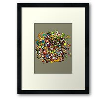 mario's complete Framed Print