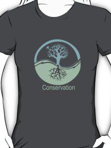 Conservation Tree Symbol aqua green T-Shirt