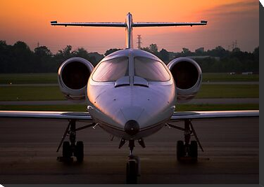 Corporate Jet by doorfrontphotos