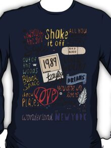 taylor swift collage COLORED T-Shirt