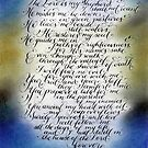 Scripture Psalm 23 calligraphy art by Melissa Goza