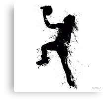 Basketball player inked Canvas Print