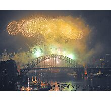 The Emerald City - New Years Eve  , Sydney Harbour    Photographic Print