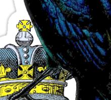Crow Stealing King's Crown Sticker