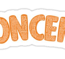 Once Upon a Time - Oncer 2015 - Orange Sticker