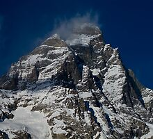 Snow clouds on The Matterhorn by Steve plowman