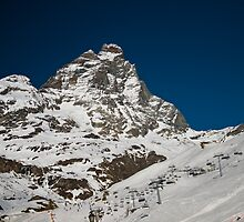 Matterhorn and ski area by Steve plowman