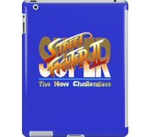 Street Fighter II (Snes) title Screen iPad Case/Skin