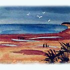 The beach at Old Hunstanton by Rosa  D'Alessio