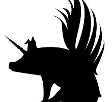 Flying Pig Unicorn Silhouette   by ChannyTatum