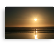 Childs Play at the Beach, 2007 Canvas Print