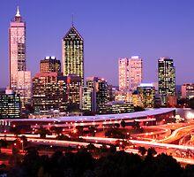 Perth at dusk by Clinton Barnes