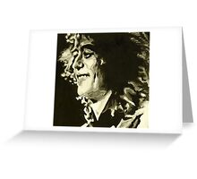 Jimmy Page. Rock Music Genius  Greeting Card