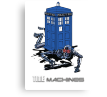 Two Time Machines | The TARDIS & the Terminator Canvas Print