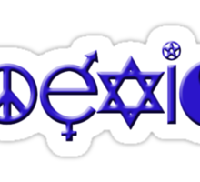 COEXIST blue Sticker