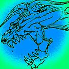 Blue Dragon by stephenmakesart
