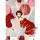 Marilyn Monroe as Clara Bow by gooseberry