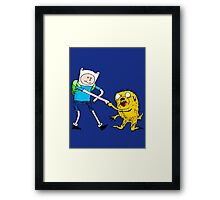 Adventure Time with Dr. Seuss Framed Print