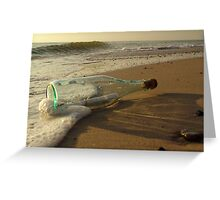 message in a bottle - 2 Greeting Card