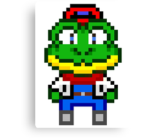 Slippy Toad - Star Fox Team Mini Pixel Canvas Print