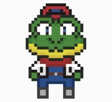 Slippy Toad - Star Fox Team Mini Pixel Kids Clothes