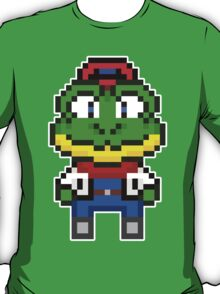 Slippy Toad - Star Fox Team Mini Pixel T-Shirt
