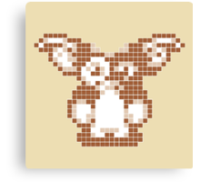 """Gremlins """"Don't Feed After Midnight."""" Gizmo Movie 8-bit Canvas Print"""