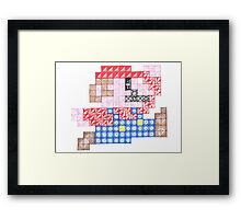 Zentangle Mario Framed Print