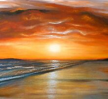 Fiery Sunset by Cherie Roe Dirksen